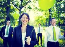 Πράσινη επιχειρησιακή περιβαλλοντική συντήρηση Concep επιχειρηματιών Στοκ Εικόνα