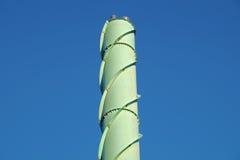 Πράσινη λεπτομέρεια καπνοδόχων από το εργοστάσιο εγγράφου Στοκ εικόνες με δικαίωμα ελεύθερης χρήσης