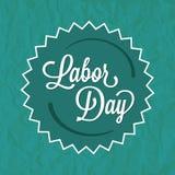 Πράσινη ετικέτα διακριτικών Εργατικής Ημέρας Στοκ Εικόνες