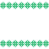 Πράσινη λευκορωσική ιερή εθνική διακόσμηση, άνευ ραφής σχέδιο επίσης corel σύρετε το διάνυσμα απεικόνισης Σλοβένικη παραδοσιακή δ Στοκ Εικόνα