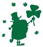 πράσινη ευτυχής σκιαγρα&phi απεικόνιση αποθεμάτων