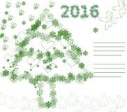 Πράσινη ευχετήρια κάρτα Χαρούμενα Χριστούγεννας ζωής Στοκ φωτογραφίες με δικαίωμα ελεύθερης χρήσης