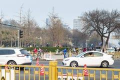 Πράσινη λεωφόρος στην ανατολική οδό Qianmen την άνοιξη Στοκ φωτογραφία με δικαίωμα ελεύθερης χρήσης