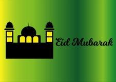 Πράσινη ε-κάρτα eid Mubarak Στοκ Εικόνες
