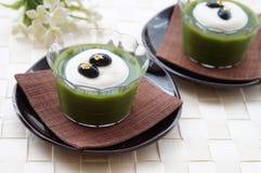 Πράσινη ζελατίνα τσαγιού Matcha στοκ εικόνες με δικαίωμα ελεύθερης χρήσης