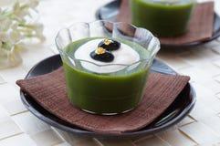 Πράσινη ζελατίνα τσαγιού Matcha Στοκ Φωτογραφία