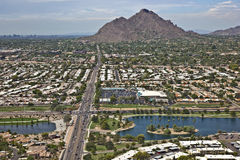 Πράσινη ζώνη, Scottsdale Στοκ εικόνα με δικαίωμα ελεύθερης χρήσης