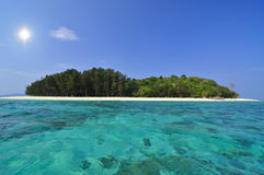 πράσινη θάλασσα νησιών χρώμα&t Στοκ Εικόνες
