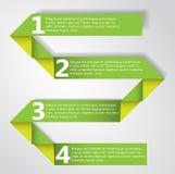 Πράσινη διανυσματική απεικόνιση εγγράφου Origami διπλωμένη ύφος. Στοκ Εικόνες