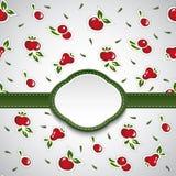 Πράσινη κάρτα με τα ζωηρόχρωμα αφηρημένα φρούτα διάνυσμα Στοκ εικόνα με δικαίωμα ελεύθερης χρήσης