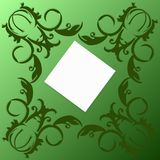 Πράσινη κάρτα με τους στροβίλους Στοκ Φωτογραφίες