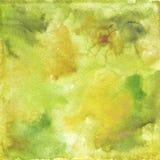 Πράσινη κίτρινη σύσταση υποβάθρου Watercolor Στοκ εικόνα με δικαίωμα ελεύθερης χρήσης