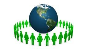 Πράσινη καθαρή ανακύκλωσης περιτύλιξη απόθεμα βίντεο