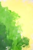 Πράσινη και κίτρινη ανασκόπηση Στοκ Φωτογραφία