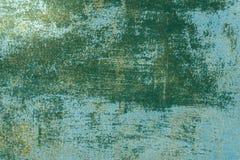 Πράσινη και παλαιά χρωματισμένη σύσταση αποσύνθεση ασβεστοκονιάματος στοκ φωτογραφία
