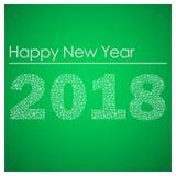 Πράσινη καλή χρονιά 2018 από μικρά snowflakes eps10 Στοκ φωτογραφία με δικαίωμα ελεύθερης χρήσης