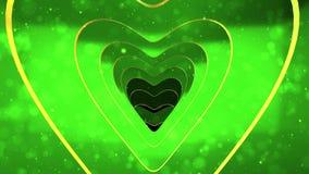 Πράσινη καρδιά για να αγαπήσει τη σήραγγα για το βρόχο απεικόνιση αποθεμάτων