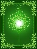 πράσινη καρδιά πλαισίων ανα Στοκ φωτογραφίες με δικαίωμα ελεύθερης χρήσης