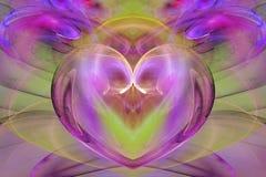πράσινη καρδιά ροζ Στοκ Εικόνα