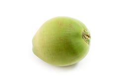 Πράσινη καρύδα στο λευκό στοκ φωτογραφία