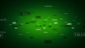 Πράσινη καταδίωξη ποσοστών και τιμών διανυσματική απεικόνιση