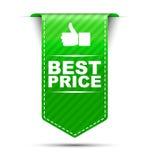 Πράσινη καλύτερη τιμή σχεδίου εμβλημάτων απεικόνιση αποθεμάτων