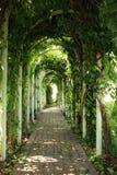 πράσινη κοιλάδα gazebos κήπων στοκ εικόνες