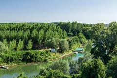 Πράσινη κοιλάδα ποταμών Στοκ Φωτογραφίες