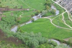Πράσινη κοιλάδα ποταμών Στοκ Εικόνες