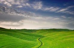 πράσινη κοιλάδα στοκ φωτογραφία