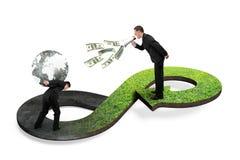 Πράσινη κυκλική έννοια οικονομίας Στοκ Εικόνα