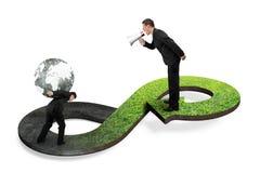 Πράσινη κυκλική έννοια οικονομίας Στοκ Φωτογραφία