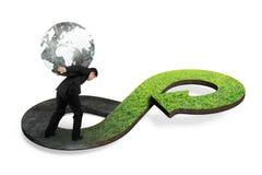 Πράσινη κυκλική έννοια οικονομίας Στοκ Φωτογραφίες