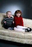 πράσινη κόκκινη αδελφή αδελφών Στοκ εικόνα με δικαίωμα ελεύθερης χρήσης