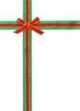 πράσινη κόκκινη κορδέλλα τό Στοκ Εικόνες