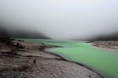 Πράσινη λίμνη στην Κολομβία Στοκ Φωτογραφία