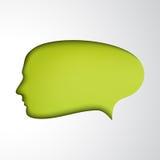 Πράσινη λεκτική φυσαλίδα. Πρόσωπο έννοιας Στοκ Εικόνες