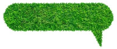 Πράσινη λεκτική φυσαλίδα χλόης Στοκ φωτογραφίες με δικαίωμα ελεύθερης χρήσης