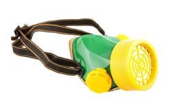 Πράσινη μάσκα χρωμάτων που απομονώνεται Στοκ Φωτογραφίες