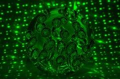 Πράσινη μαύρη αφαίρεση κύκλων πυράκτωσης σφαιρών Στοκ φωτογραφία με δικαίωμα ελεύθερης χρήσης
