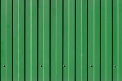 Πράσινη μεταλλική κυματισμένη σύσταση Στοκ φωτογραφία με δικαίωμα ελεύθερης χρήσης