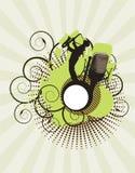 πράσινη μουσική συναυλία& απεικόνιση αποθεμάτων