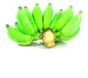 Πράσινη μπανάνα από τον κήπο που απομονώνεται στο άσπρο υπόβαθρο στοκ φωτογραφία