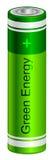 Πράσινη μπαταρία Στοκ φωτογραφία με δικαίωμα ελεύθερης χρήσης