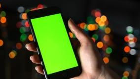 Πράσινη οθόνη στο smartphone φιλμ μικρού μήκους