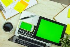 Πράσινη οθόνη computre Στοκ Εικόνες