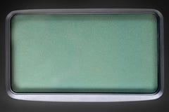 Πράσινη οθόνη LCD στο μαύρο πλαστικό πλαίσιο Στοκ φωτογραφία με δικαίωμα ελεύθερης χρήσης