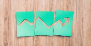 Πράσινη οικονομική γραφική παράσταση Στοκ φωτογραφία με δικαίωμα ελεύθερης χρήσης