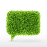 πράσινη ομιλία φύλλων φυσαλίδων ελεύθερη απεικόνιση δικαιώματος