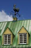 πράσινη παλαιά στέγη σπιτιών στοκ εικόνα με δικαίωμα ελεύθερης χρήσης